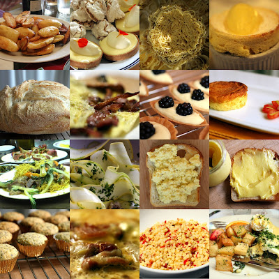 picture photograph of yellow foods collage for a livestrong taste of yellow event 2007 copyright of sam breach http://becksposhnosh.blogspot.com/