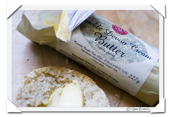picture photograph English Double Devon Cream butter copyright of sam breach http://becksposhnosh.blogspot.com/