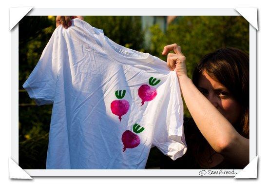 picture photograph image Stencil made for printing beet T shirt 2008 copyright of sam breach http://becksposhnosh.blogspot.com/