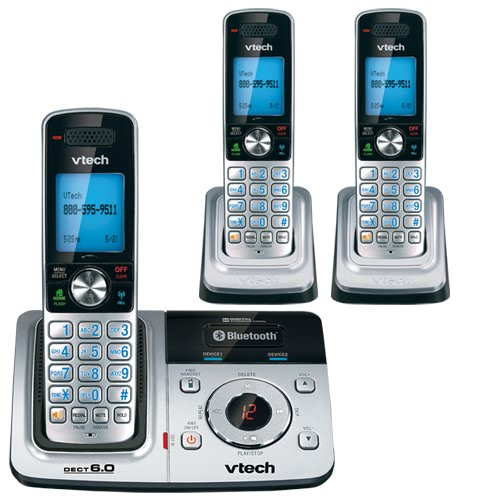 Review VTech DS6321 3 DECT 60 Bluetooth Cordless Phone System