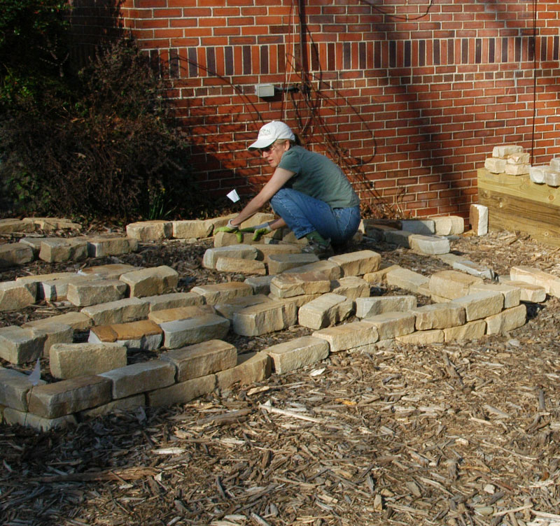 Natural Gardening: Stone Raised Beds