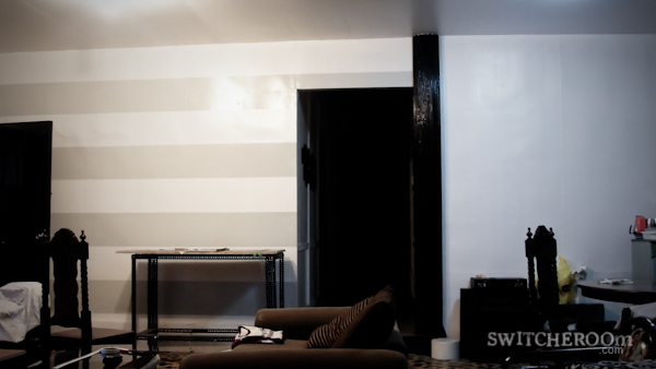 how not to paint a striped wall, stripe wall, switcheroom, DIY wall