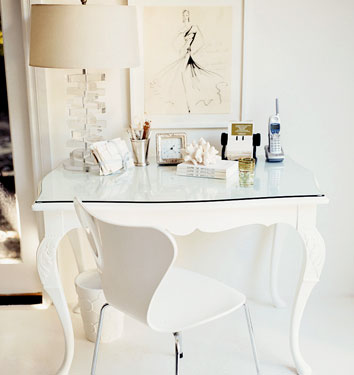 home office, white home office, domino, clean office