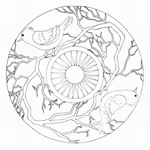 Mandalas Para Pintar Mandala De La Alhambra Para Colorear