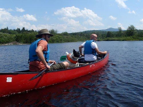 Canoe on Upper Hudson River Near Newcomb