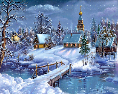 christmas snow wallpaper canvas