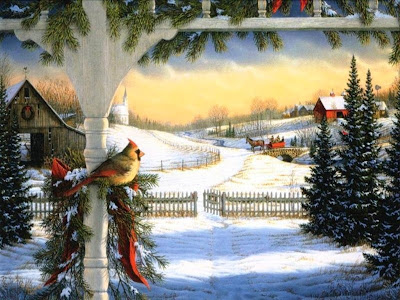 Snowbird Wallpaper of christmas