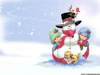 Frosty Wallpaper for christmas