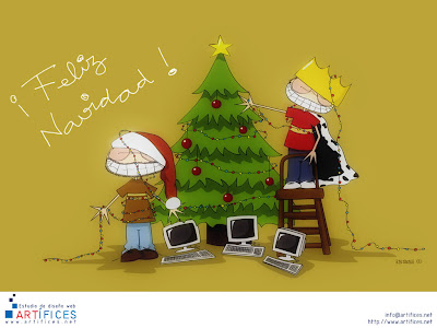 Feliz Navidad wallpaper - Old Christmas Wallpapers