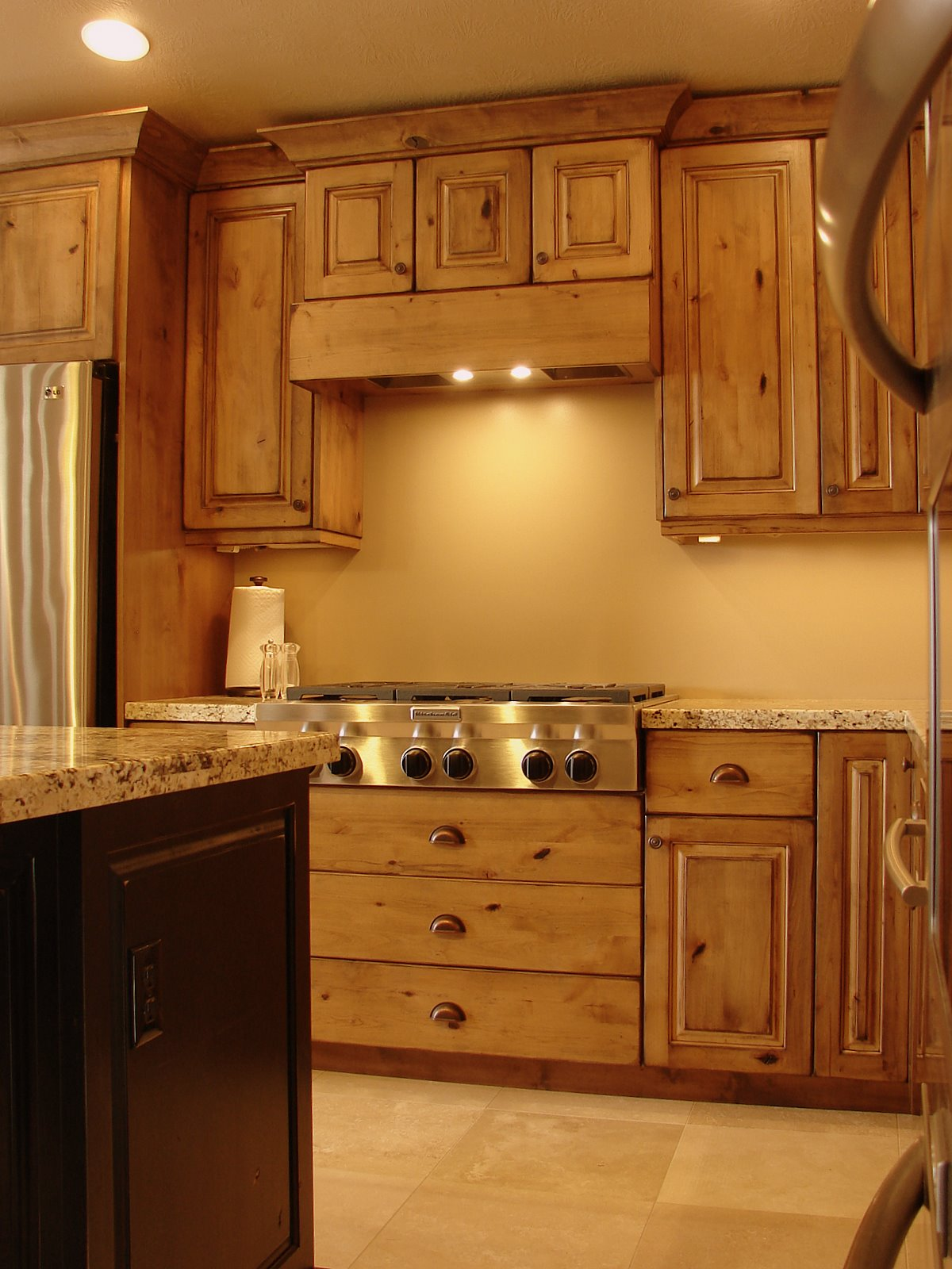 alder kitchen cabinets luxury faucets lec rustic knotty
