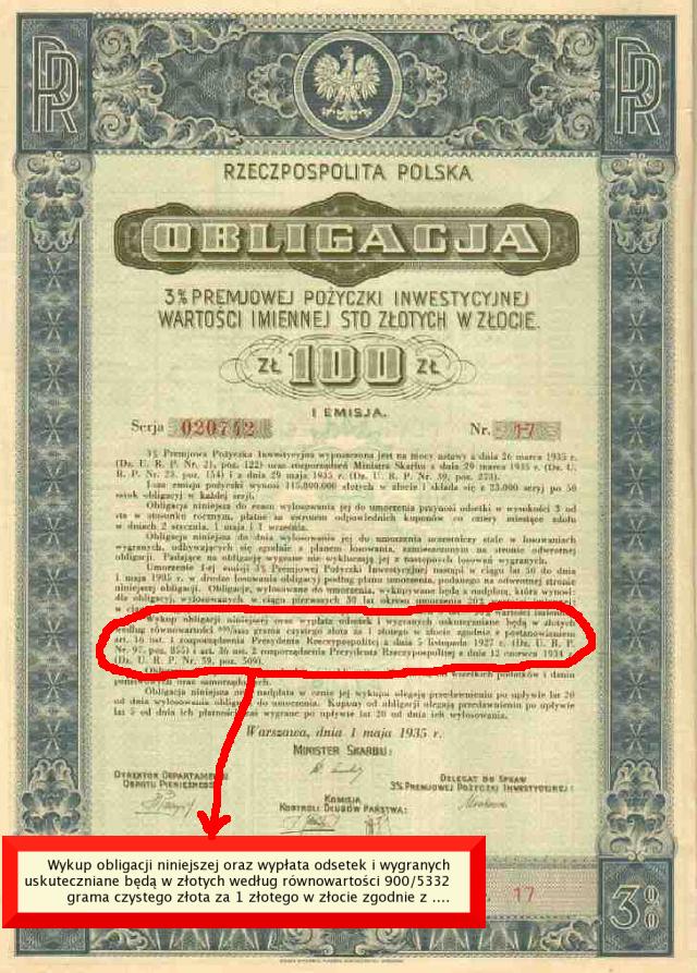 100 zł w złocie