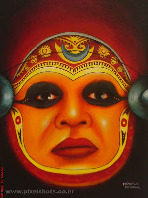 kadhakali mask painting,kerala art forms,folk dance paintings,kerala art paintings,cochin painting shops,beautiful painting of kadhakali an artform of kerala from jew street shops in cochin kerala,street paintings