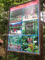 deer rehabilitation centre entrance board, attractions of thenmala deer rehabilitation cente,deer parks of kerala,thenmala eco tourism deer park info board