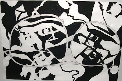 Una de las producciones realizadas por alumnos en un seminario de dibujo contemporáneo