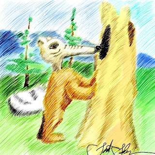 DSG 1323: Creature: SABRE-EYED, STRETCH-SKULLED, BLEACH-SKINNED, BEAR-BEAST