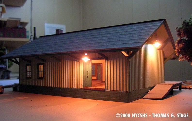 New York Central System Historical Society Inc Caledonia Freight House In Ho By Tom Stage