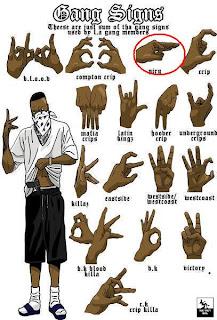 Gang sign chart WTF
