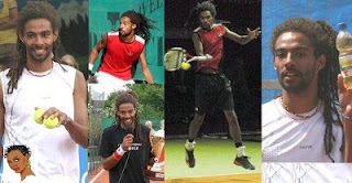 Dustin Brown collage from Black Tennis Pros