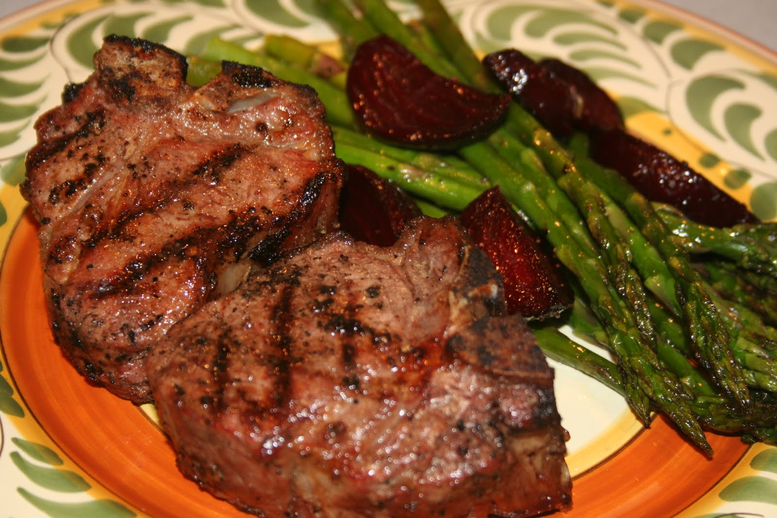 COOK WITH SUSAN: Grilled Lamb Chops with Oven Roasted ...