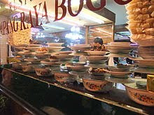 Padang Minangkabu Restaurant food on counter