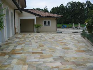 terrasse pierre quartzite