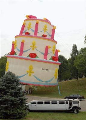 Happy Birthday Inflatable Birthday Cake
