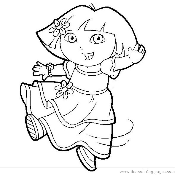 free printable coloring pages dora 2015