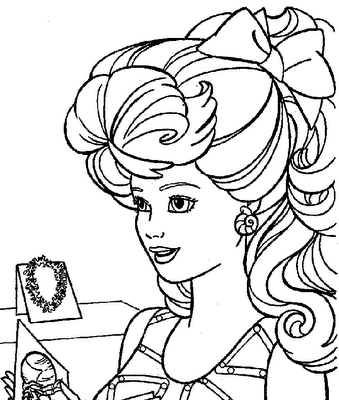coloring: Barbie coloring pages for kids