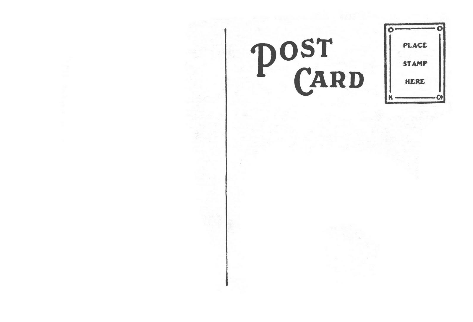 Postcard Back Template 4x6 | Sample CV Resume