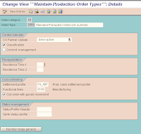 how to create a new production order type in sap
