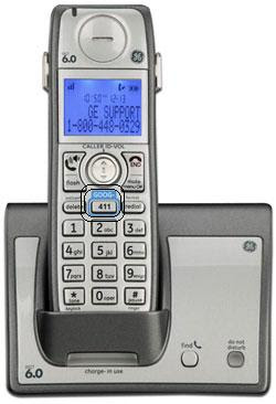 The GE Dect Wireless with the Goog411 button..