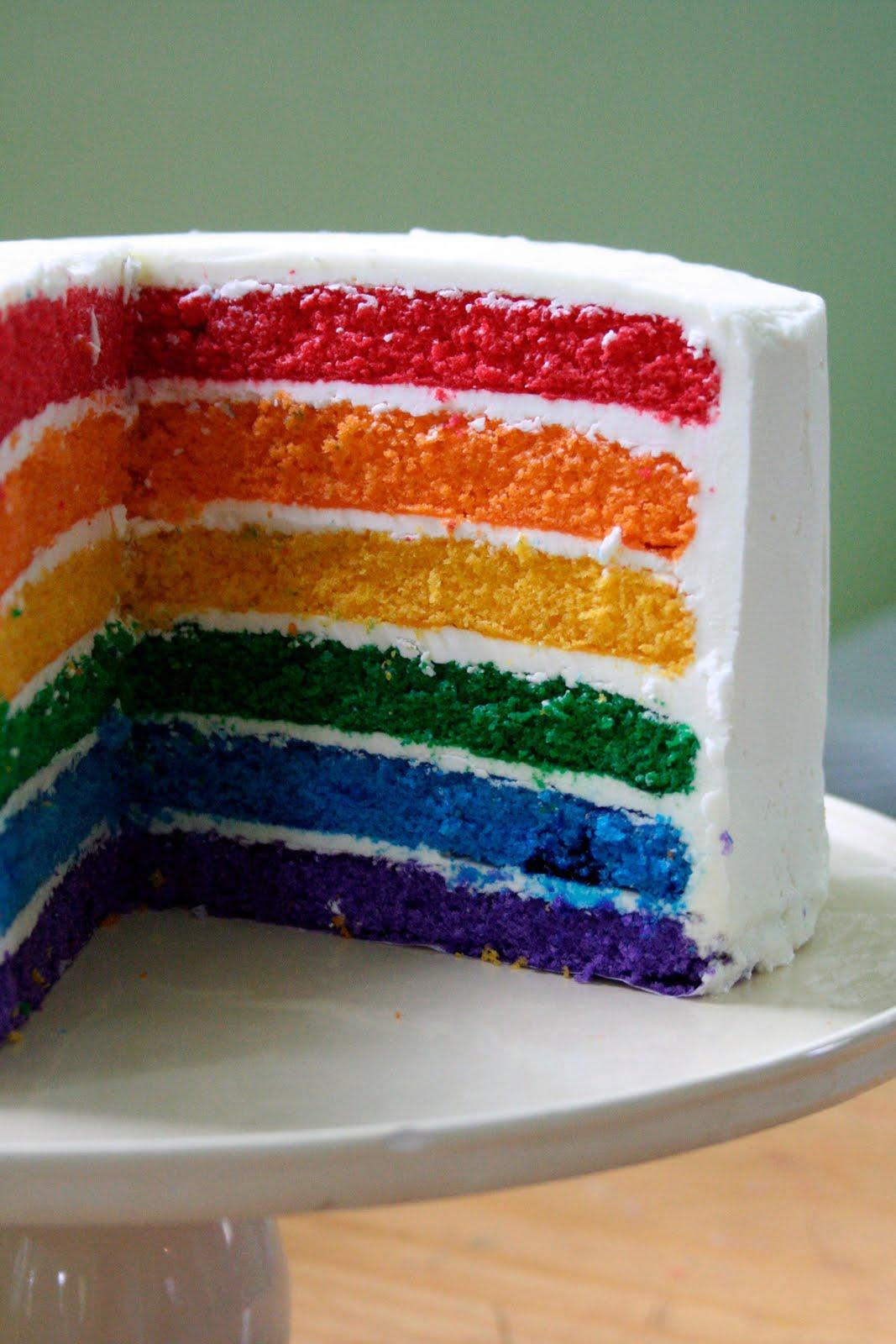 Rainbow Cake Recipe Dishmaps