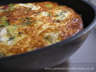Leek Bacon and Feta Frittata