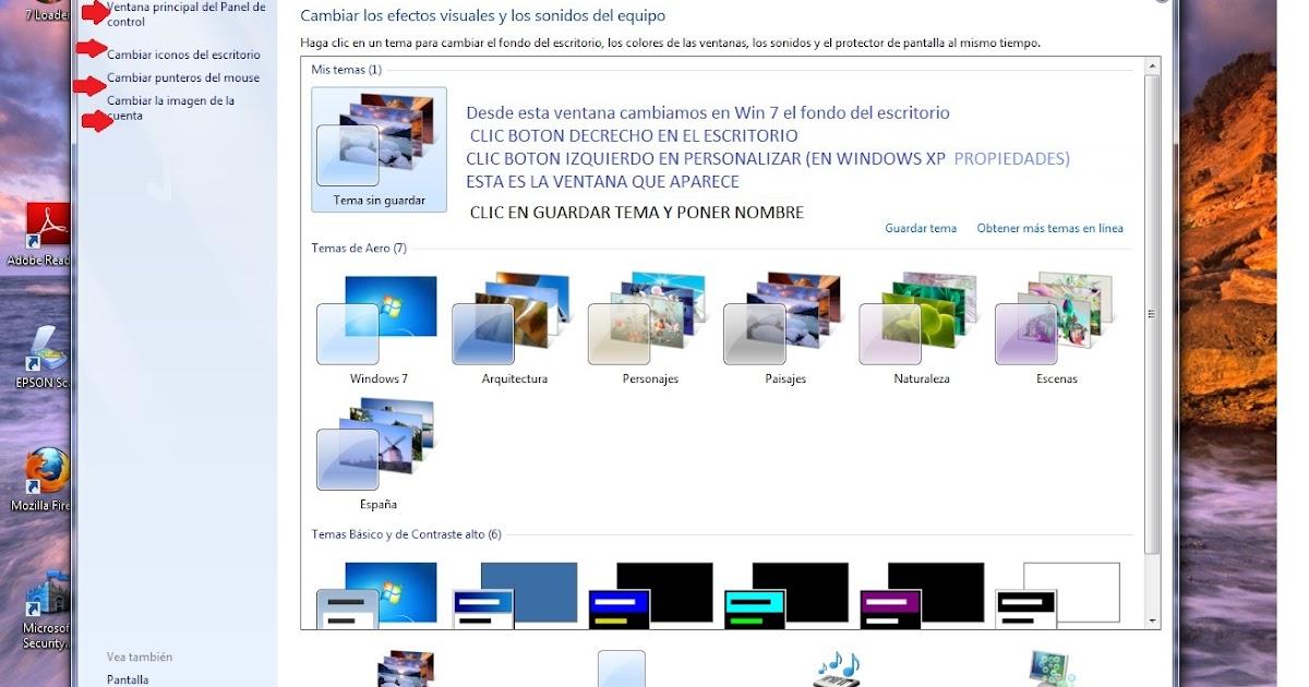 Cambiar fondo de pantalla windows 7 - Como cambiar fondo de escritorio windows 7 starter ...