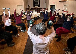 Natural Health Remedies - Health and Fitness Exercise class. Photo courtesy USDA, ARS