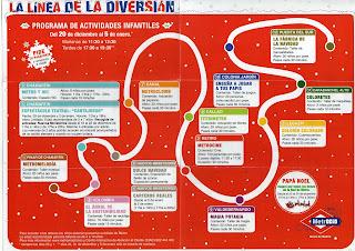 Programación de actividades de Navidad para niños en el Metro