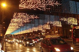 Planes para la Navidad. Ver las luces de Navidad en bici