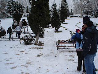 Fotos de la gran nevada de Madrid. Muñecos de Nieve