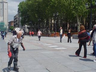 Patinando en la Plaza de Oriente