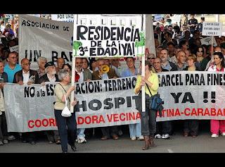 Los vecinos de Carabanchel se vuelven a Manifestar frente a la carcel