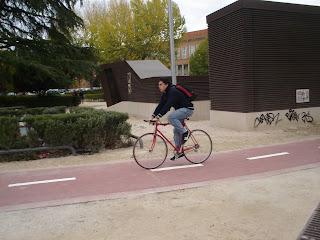 Un carril bici sin mucho éxito