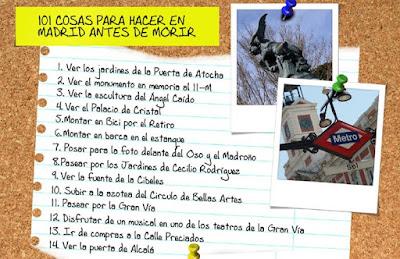 Una lista con 101 cosas que hacer en Madrid antes de morir
