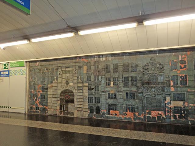 El último descubrimiento tras las paredes del metro. El mural de la estación de Gran Via