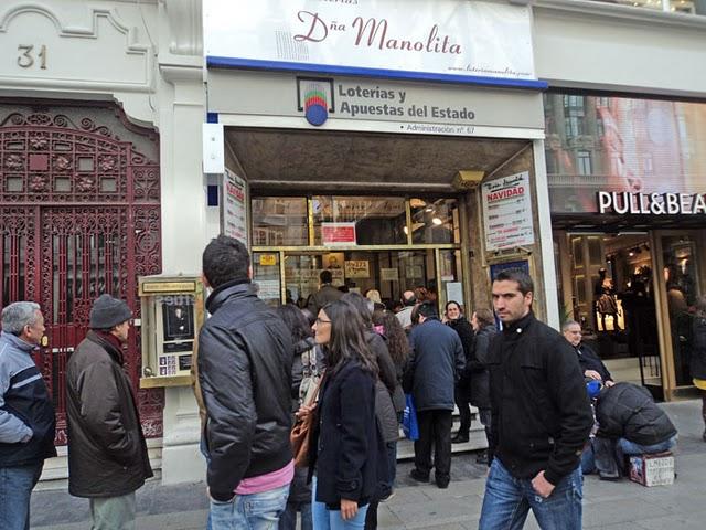 Premios de la lotería de Navidad en Madrid