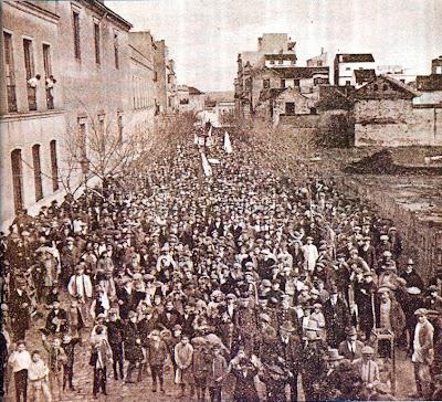 1919: manifestación anticaciquil en la calle Claudio Marcelo