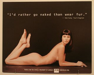 Stars removes their clothes protesting against fur in fashion