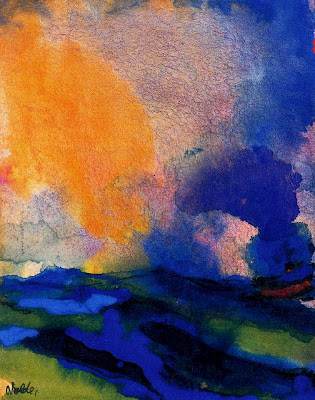 Emil+Nolde+-+Blue+green+sea+with+steamer+%28%29