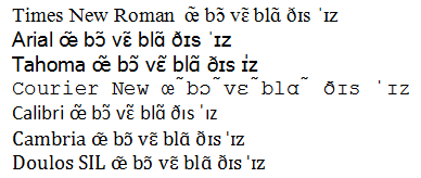 John Wells's phonetic blog: Calibri and Cambria