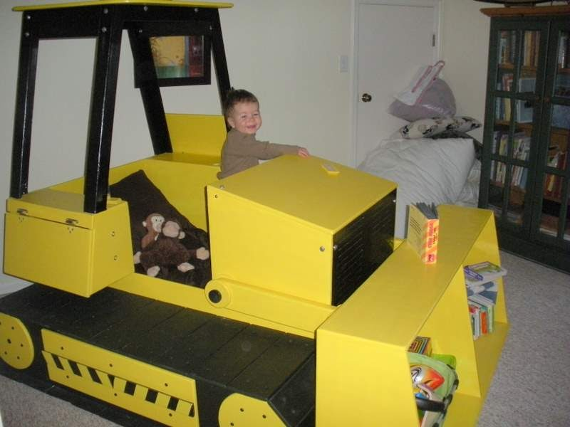 Twin size bulldozer bed | Chambre enfant, Meuble, Déco maison