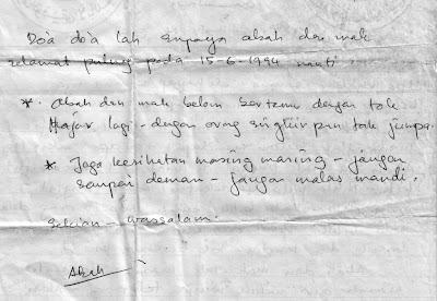 surat dari abah..